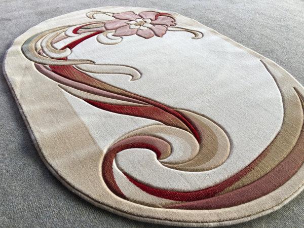 килим премиум 281 беж овал